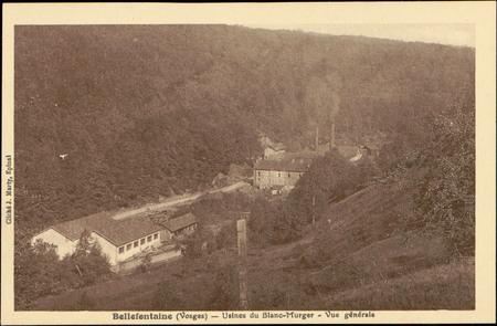 Bellefontaine (Vosges), Usines du Blanc-Murger, Vue générale