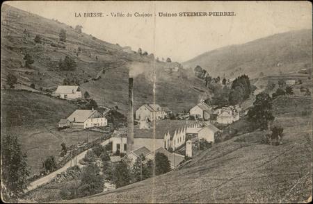 La Bresse, Vallée du Chajoux, Usines Steimer-Pierrel