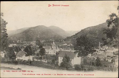 La Bresse (Vosges), Vue générale vers le centre, La Bresse se trouve à 626…