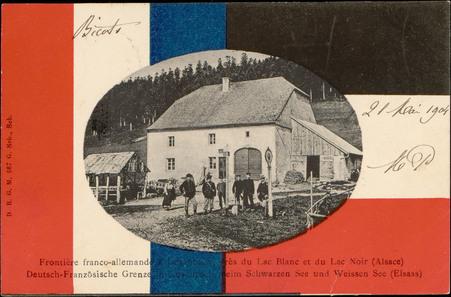 Frontière franco-allemande à Luschbach, près du Lac Blanc et du Lac noir (…