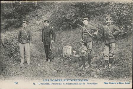 Douaniers Français et Allemands sur la frontière