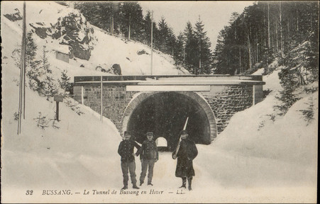 Bussang, Le Tunnel de Bussang en hiver