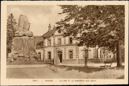 Bussang, La Gare et le Monument aux Morts