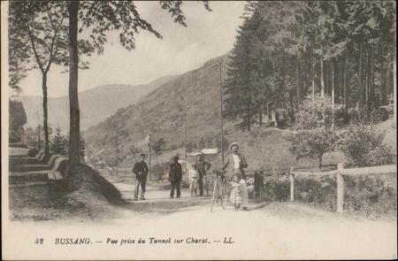 Bussang, Vue prise du Tunnel sur Charat