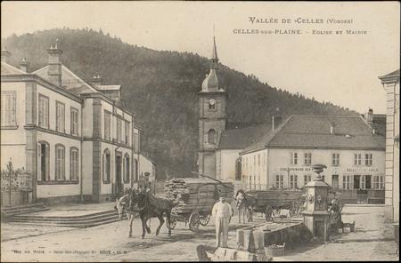 Vallée de Celles (Vosges), Celles-sur-Plaine, Église et Mairie