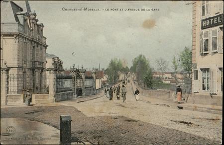 Charmes-s/-Moselle, Le Pont et l'avenue de la gare