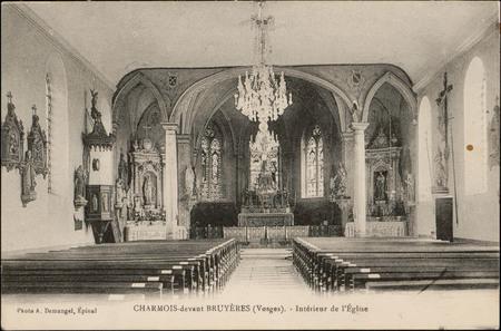 Charmois-devant-Bruyères (Vosges), Intérieur de l'Église