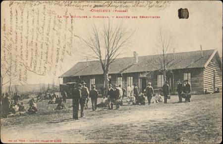 Corcieux (Vosges), La Vie militaire à Corcieux, Arrivée des réservistes