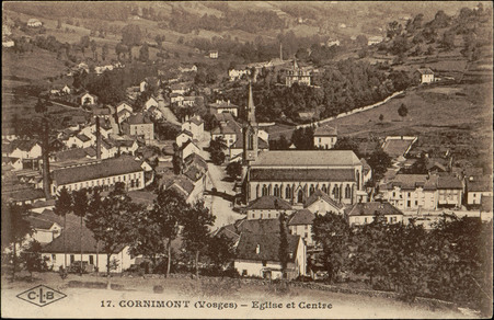 Cornimont (Vosges), Église et centre