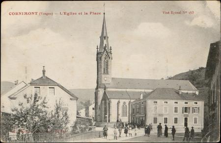 Cornimont (Vosges), L'Église et la Place