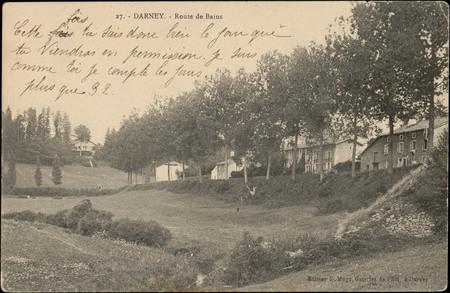 Darney, Route de Bains