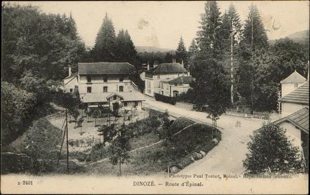 Dinozé, Route d'Épinal