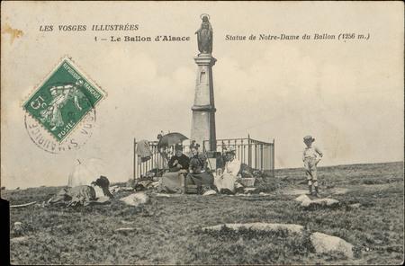 Le Ballon d'Alsace, Statue de Notre-Dame du Ballon (1256 m.)