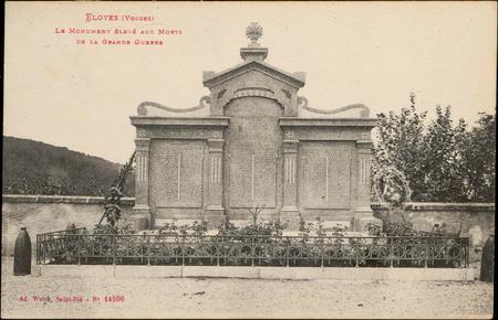 Eloyes (Vosges), Le Monument élevé aux Morts de la Grande Guerre