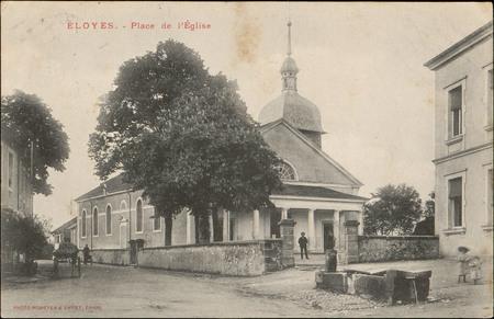 Eloyes, Place de l'Église