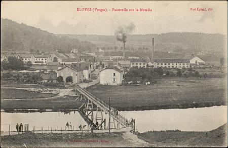 Eloyes (Vosges), Passerelle sur la Moselle