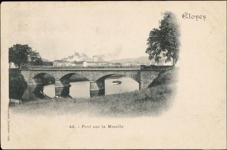 Eloyes, Pont sur la Moselle
