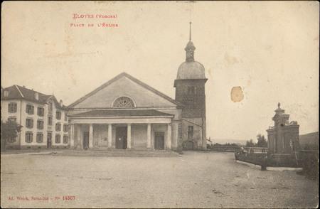 Eloyes (Vosges), Place de l'Église