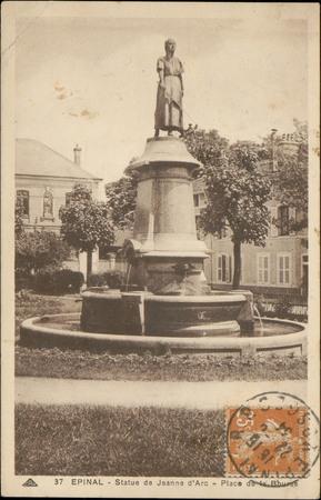 Épinal, Statue de Jeanne d'Arc, Place de la Burre