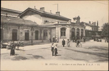 Épinal, La Gare et son Poste de T.S.F