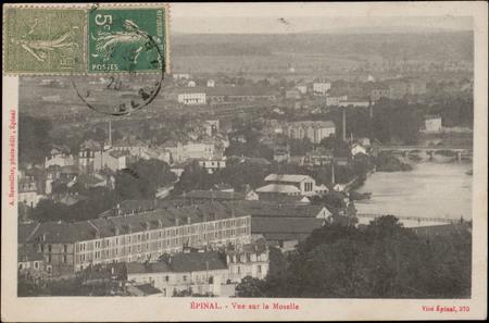 Épinal, Vue sur la Moselle