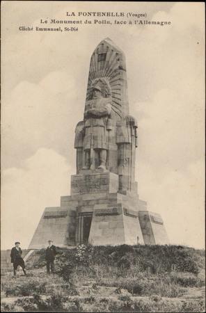La Fontenelle (Vosges), Le Monument du Poilu, face à l'Allemagne