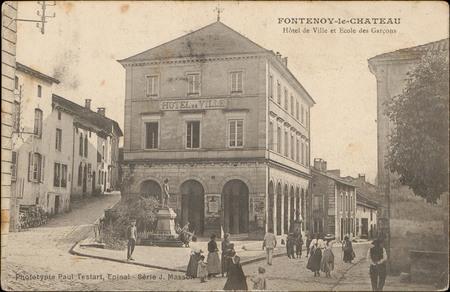 Fontenoy-le-Château, Hôtel de Ville et École des Garçons