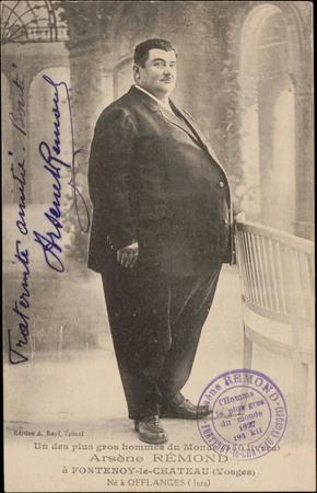 Un des plus gros hommes du Monde, Arsène Rémond à Fontenoy-le-Château (Vos…