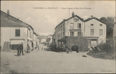 Fontenoy-le-Château, Place Gobert et Rue de la Chenale