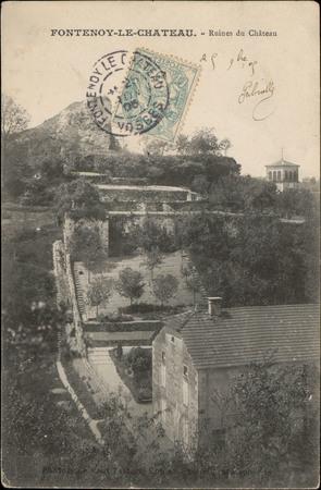 Fontenoy-le-Château, Ruines du Château