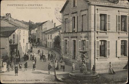Fontenoy-le-Château, Fontaine monumentale et Rue Neuve