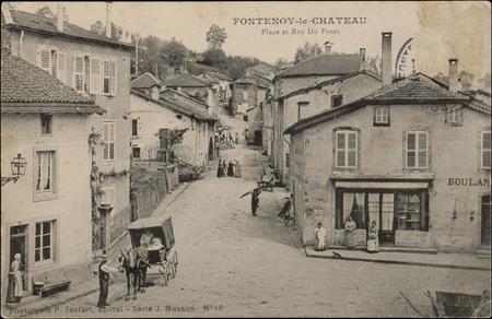 Fontenoy-le-Château, Place et Rue du Potet