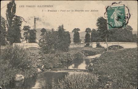 Fraize, pont sur la Meurthe aux Aulnes
