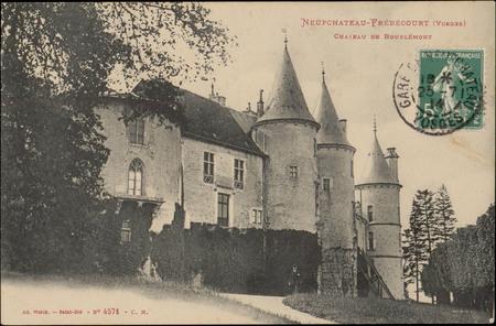 NeufChâteau-Frébécourt (Vosges), Château de Bourlémont