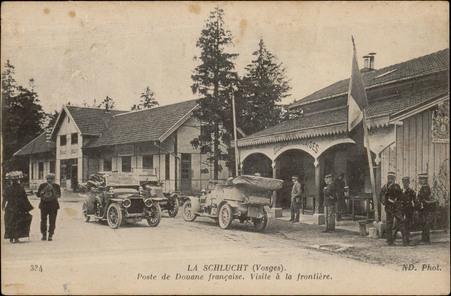La Schlucht (Vosges), Poste de douane française, Visite à la frontière