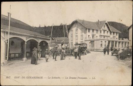 Env. de Gérardmer, La Schlucht, La Douane française