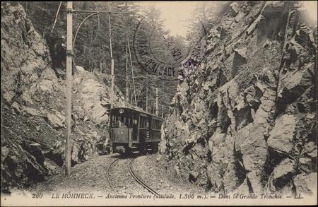 Le Hohneck, Ancienne Frontière (altitude, 1.366 m.), dans la Grande Tranch…