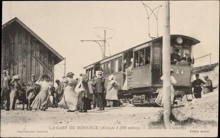 La Gare du Hohneck (Altitude 1366 mètres), Descente du Tramway