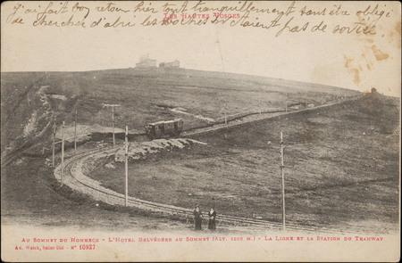 Au sommet du Hohneck, L'Hôtel belvédère au sommet (alt. 1366 m.), La Ligne…
