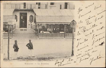 Schlucht, La Frontière