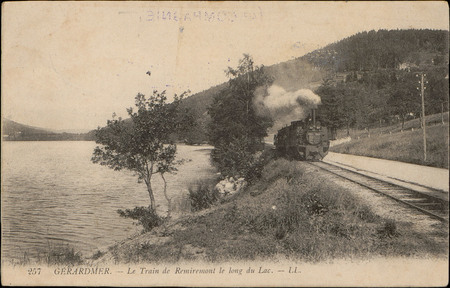 Gérardmer, Le Train de Remiremont le long du Lac