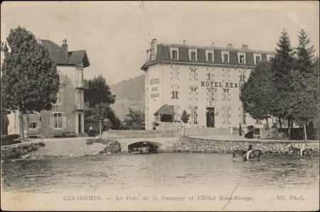 Gérardmer, Le Pont de la Jamagne et l'Hôtel Beau-Rivage