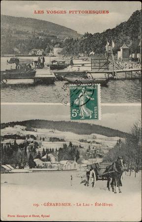 Gérardmer, Le Lac, Été-Hiver