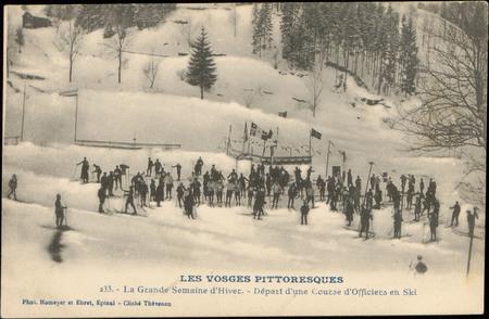 La Grande Semaine d'Hiver, Départ d'une Course d'Officiers en ski