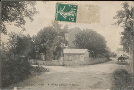 Girancourt, École des garçons et Mairie