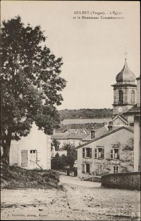 Golbey (Vosges), L'Église et le Monument commémoratif