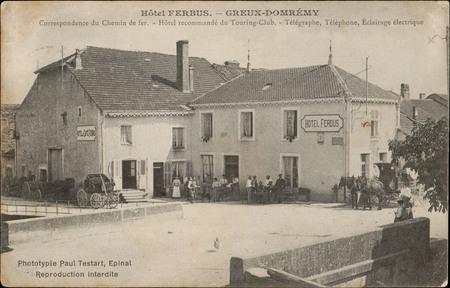 Hôtel Ferbus, Greux-Domrémy, Correspondance du Chemin de fer, Hôtel recomm…