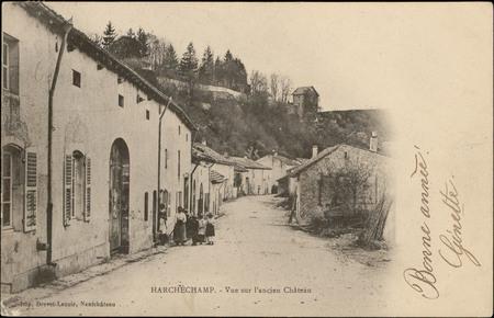 Harchéchamp, Vue sur l'ancien Château