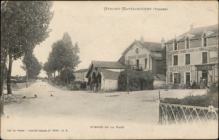 Hymont-Mattaincourt (Vosges), Avenue de la Gare