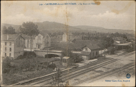 Laveline-devant-Bruyères, La Gare et l'Hôtel